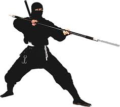 The ninja I picture outside of my house looks just like this but with a bat. Obviously he wasn't terrifying enough with only a sword thing and handcuffs alone. (Photo Credit : theadminzone.com)